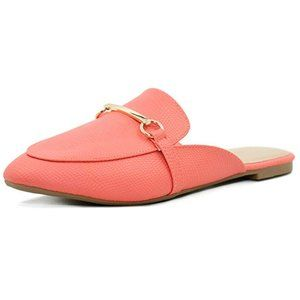 Shoes - Buckle Mule Backless Slip-on Loafer Coral